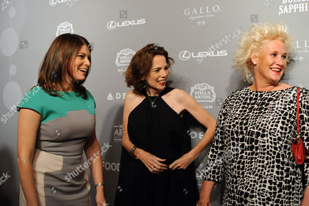 FOOD & WINE's Gail Simmons, left, editor in chief Dana Cowin, center, and chef Anne Burrell share a laugh at the 2013 FOOD & WINE Best New Chefs 25th anniversary celebration at Pranna in New York