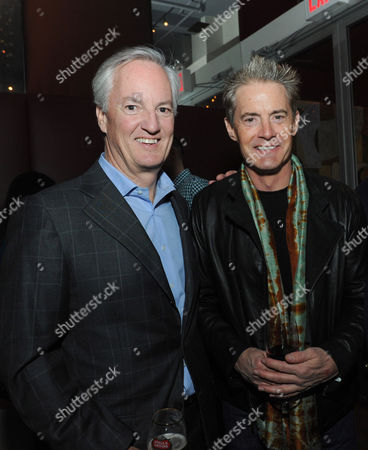 Stock Photo of Ed Kelly, president and chief executive officer of American Express Publishing, and actor Kyle MacLachlan attend the 2013 FOOD & WINE Best New Chefs 25th anniversary celebration at Pranna in New York