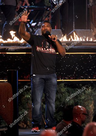 Quinton Jackson speaks on stage at Spike TV's Guys Choice Awards at Sony Pictures Studios, in Culver City, Calif