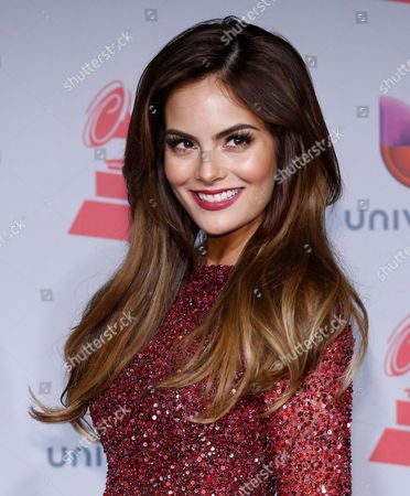 Stock Photo of Ximena Navarrete poses backstage at the 14th Annual Latin Grammy Awards at the Mandalay Bay Hotel and Casino, in Las Vegas