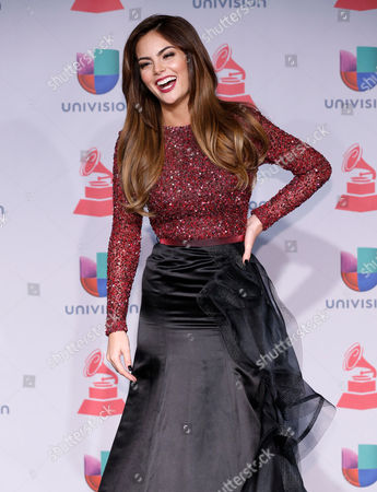 Stock Picture of Ximena Navarrete poses backstage at the 14th Annual Latin Grammy Awards at the Mandalay Bay Hotel and Casino, in Las Vegas