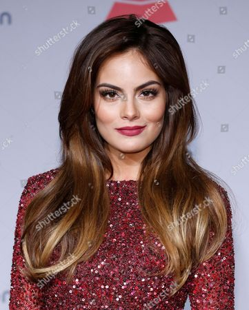 Ximena Navarrete poses backstage at the 14th Annual Latin Grammy Awards at the Mandalay Bay Hotel and Casino, in Las Vegas
