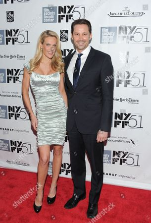 "Heidi Albertsen and Prescott Caballero attend the 51st annual New York Film Festival closing night screening of ""Her"" at Alice Tully Hall on in New York"