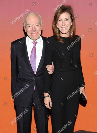 Leonard Lauder and girlfriend Linda Johnson attend the 2013 Whitney Gala & Studio Party at Skylight at Moynihan Station on in New York
