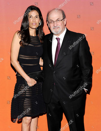 Author Salman Rushdie and girlfriend designer Missy Brody attend the 2013 Whitney Gala & Studio Party at Skylight at Moynihan Station on in New York