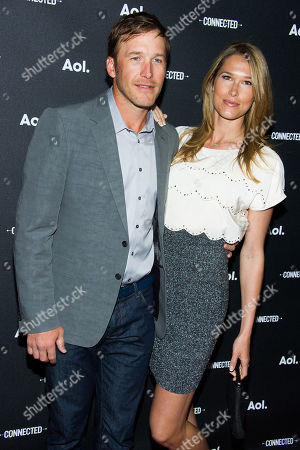 Bode Miller and Morgan Beck attend the AOL NewFront on in New York