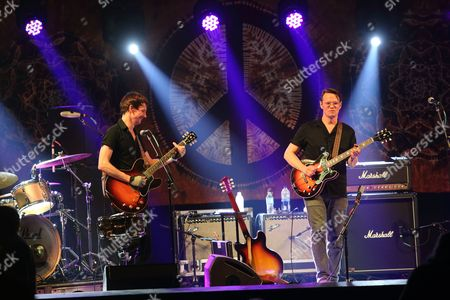 Cody Dickinson (L), Luther Dickinson and the North Mississippi Allstars performs at Magnolia Fest at the Spirit of Suwannee Music Park in Live Oak Florida on