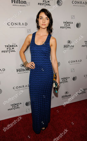 Actress Cortney Palm poses at the 2014 Tribeca Film Festival LA Reception at The Beverly Hilton on in Beverly Hills, Calif
