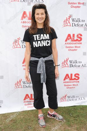 Actress Daphne Zuniga attends the 2015 ALS Walk in Exposition Park, in Los Angeles