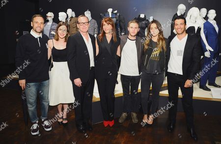 "Nick Blood, from left, Elizabeth Henstridge, Clark Gregg, Ann Foley, costume designer of ""Marvel's Agents of S.H.I.E.L.D"", Iain De Caestecker, Chloe Bennet and Simon Kassianides seen at The 9th Annual Outstanding Art of Television Costume Design Exhibition opening at the FIDM Museum & Galleries on the Park, in Los Angeles. The Television Academy and FIDM Museum honored this year's Emmy(R) Award winners in Outstanding Costume Design at the opening reception for this annual special exhibition"