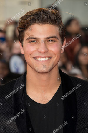 Luke Bilyk arrives at the Much Music Video Awards, in Toronto, Canada