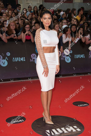 Mia Martina arrives at the Much Music Video Awards, in Toronto, Canada