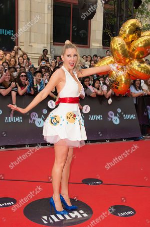 Nicole Arbour arrives at the Much Music Video Awards, in Toronto, Canada