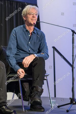 Stewart Copeland of The Police speaks during the 2015 National Association of Music Merchants (NAMM) show at the Anaheim Convention Center on in Anaheim, California
