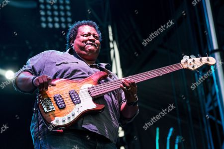 Juan Nelson of Ben Harper and the Innocent Criminals performs during day one of Forecastle Music Festival at Waterfront Park, in Louisville, Ky