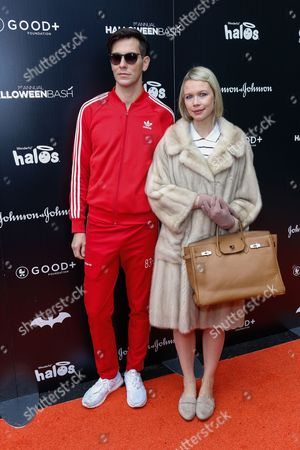 Erin Fetherston, right, and Gabe Saporta attend the 2016 GOOD + Foundation Halloween Bash at Gower Studios, in Los Angeles