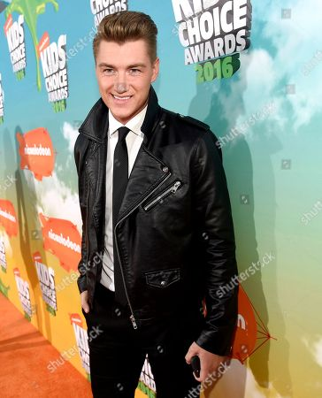 Alexey Vorobyov arrives at the Kids' Choice Awards at The Forum, in Inglewood, Calif