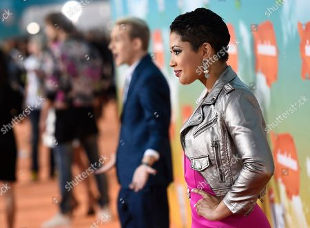 Stock Image of Patricia Kazadi arrives at the Kids' Choice Awards at The Forum, in Inglewood, Calif