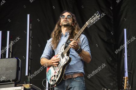 Todd Gummerman of Mutemath performs on day 3 of Lollapalooza, in Chicago