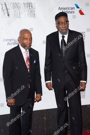 Leon A. Huff, left, and Kenneth Gamble attend the 47th Annual Songwriters Hall of Fame Induction Ceremony and Awards Gala at the Marriott Marquis Hotel, in New York
