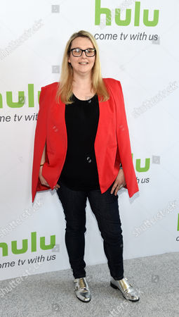 """Rae Earl, writer and creator of the Hulu series """"My Mad Fat Diary,"""" poses before the network's panels during the Television Critics Association 2016 Summer Press Tour at the Beverly Hilton, in Beverly Hills, Calif"""