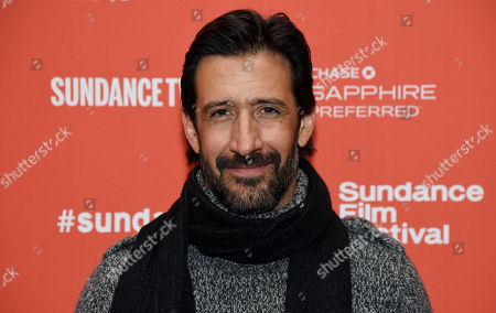 "Jose Maria Yazpik, a cast member in ""Mr. Pig,"" poses at the premiere of the film at the 2016 Sundance Film Festival, in Park City, Utah"