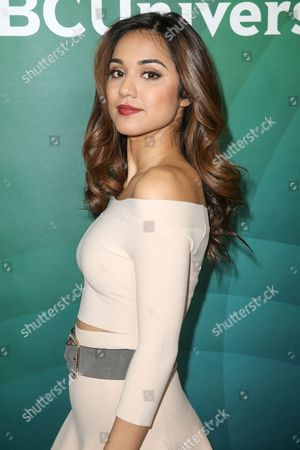 Summer Bishil arrives at the 2016 NBCUniversal Winter TCA at the Langham Huntington Hotel & Spa, in Pasadena, Calif