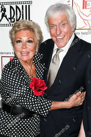 Mitzi Gaynor, left, and Dick Van Dyke attend the 29th Annual Gypsy Awards Luncheon held at the Beverly Hilton Hotel, in Beverly Hills, Calif