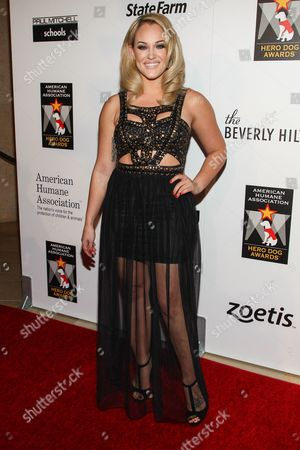 Dancer Lacey Schwimmer arrives at the 3rd Annual American Humane Association Hero Dog Awards at the Beverly Hilton Hotel on in Beverly Hills, Calif
