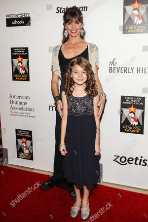 TV personality Victoria Stilwell and daughter Alexandra Zeiler arrive at the 3rd Annual American Humane Association Hero Dog Awards at the Beverly Hilton Hotel on in Beverly Hills, Calif