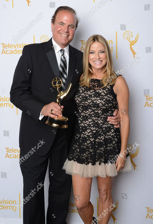 David Goldstien and Dorothy Lucey poses at the Television Academy's 66th Los Angeles Area Emmy Awards on at The Leonard H. Goldenson Theater in the NoHo Arts District in Los Angeles
