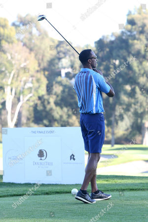 Willie Gault at the 8th Annual Hilton HHonors Charitable Golf Series Finale Event after taking a swing at the golf ball on in Los Angeles. The three-day event, held at the famed Riviera Country Club raised money for City of Hope, the leading research, treatment and education center for cancer, diabetes and other life-threatening diseases