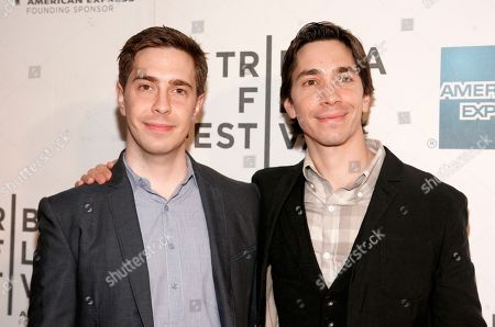 """Stock Photo of Writer Christian Long, left, and actor Justin Long, right, attend the """"A Case Of You"""" premiere during the 2013 Tribeca Film Festival on in New York"""