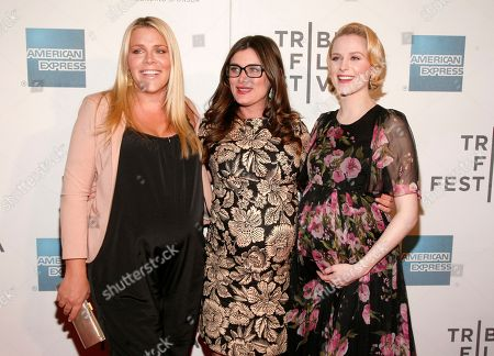 "From left, actress Busy Philipps, director Kat Coiro and actress Evan Rachel Wood attend the ""A Case Of You"" premiere during the 2013 Tribeca Film Festival on in New York"