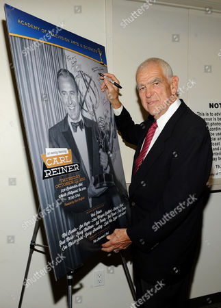 "OCTOBER 13: Writer Bill Persky attends the Academy of Television Arts & Sciences Presents: ""An Evening Honoring Carl Reiner"" at the Leonard H. Goldenson Theatre on in North Hollywood, California"