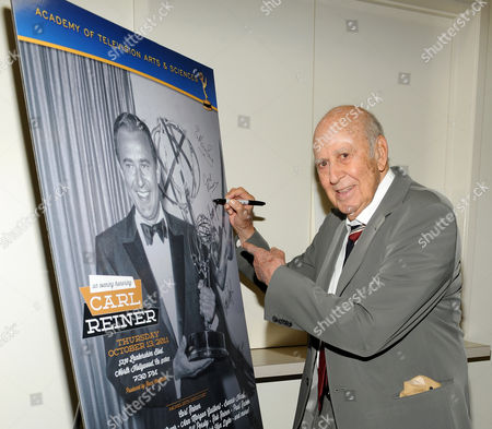 """OCTOBER 13: Honoree Carl Reiner attends the Academy of Television Arts & Sciences Presents: """"An Evening Honoring Carl Reiner"""" at the Leonard H. Goldenson Theatre on in North Hollywood, California"""