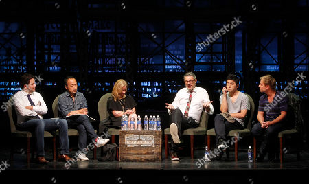 From left, Ignacio Oreamuno, Executive Director of ADC, Robert Wong, Executive Creative Director of Google Creative Labs, Colleen DeCourcy, CEO of Socialistic, Michael Lebowitz, Founder and CEO of Big Spaceship, Rei Inamoto, Chief Creative Officer of AKQA, and Philippe Meunier, Creative Director of Sid Lee, participate in a panel at Advertising Week on in New York
