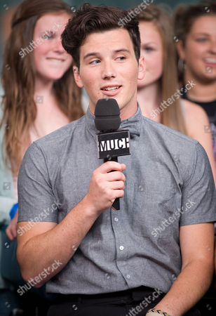 Singer Zachary Porter of the band Allstar Weekend speaks during an interview at New.Music.Live. at the MuchMusic HQ, in Toronto