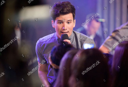 Singer Zachary Porter of the band Allstar Weekend performs on-stage at New.Music.Live. at the MuchMusic HQ, in Toronto