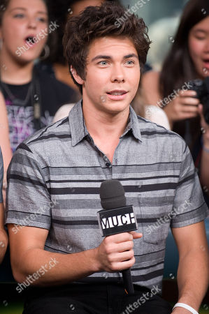 Stock Photo of Musician Cameron Quiseng of the band Allstar Weekend speaks during an interview at New.Music.Live. at the MuchMusic HQ, in Toronto