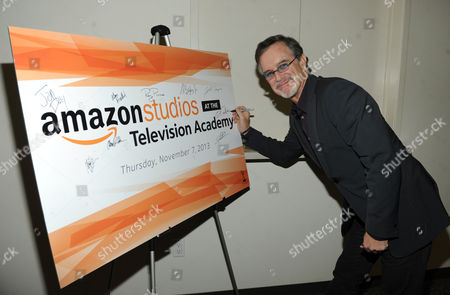 Garry Trudeau, executive producer and creator of Alpha House, is seen at the Television Academy presents Amazon Studios, on at the Leonard H. Goldenson Theatre in North Hollywood, Calif