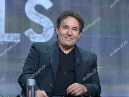 """Stock Image of Creator John Wirth on the """"Hell on Wheels"""" panel at AMC TCA Panel at the Beverly Hilton on Friday, June 26th, 2013 in Beverly Hills, Calif"""