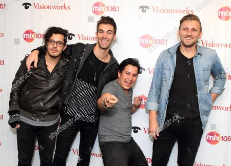 Matt Sanchez, Zachary Barnett, Dave Rublin, James Adam Shelley Indie rock band American Authors visit the Mix 106 Performance Theater, in Philadelphia