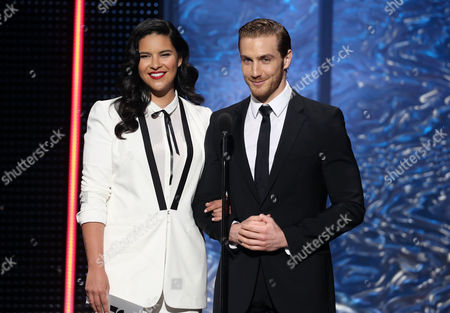 Litzy Dominguez, Eugenio Siller, presenters at the 2012 Billboard Mexican Music Awards at the Shrine Auditorium, in Los Angeles