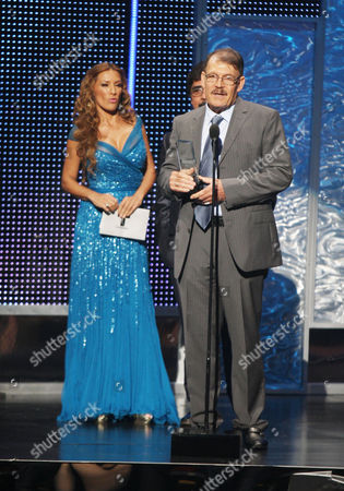 Azucena Cierco, Celso Pina, presenters at the 2012 Billboard Mexican Music Awards at the Shrine Auditorium, in Los Angeles