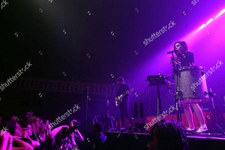 Jamie Sierota, Noah Sierota, Sydney Sierota and Graham Sierota with Echosmith performs during the Blurryface Tour 2015 at the Tabernacle, in Atlanta
