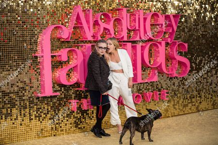 Stock Photo of Actress Carrie Fisher and daughter Billie Catherine Lourd pose for photographers upon arrival at the world premiere of the film 'Absolutely Fabulous' in London