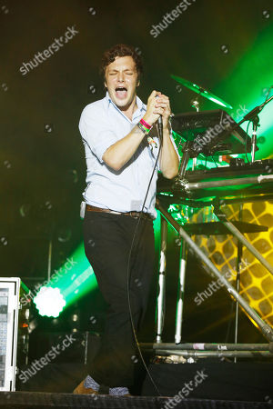 Ed Macfarlane of Friendly Fires performs with Disclosure at Bestival at Robin Hill,, on the Isle of Wight, England. Thousands of music fans are expected at the weekend's festival to see acts such as Beck, Outkast, Foals and Chic featuring Nile Rodgers