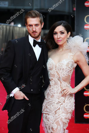 British actor Arthur Darvill and Croatian actress Zrinka Cvitesic arrives for the Olivier Awards at the Royal Opera House in central London, . Named after the British actor Laurence Olivier, the awards are given for West End shows and other productions staged in London