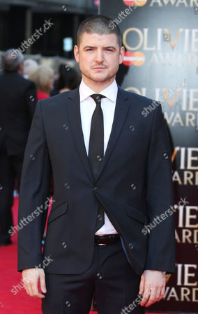 British actor James Alexandrou arrives for the Olivier Awards at the Royal Opera House in central London, . Named after the British actor Laurence Olivier, the awards are given for West End shows and other productions staged in London